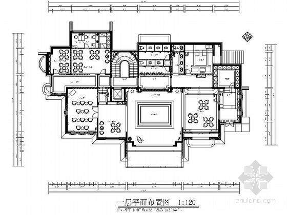 [北京]欧式复古红酒庄园接待中心施工图(含实景照片)