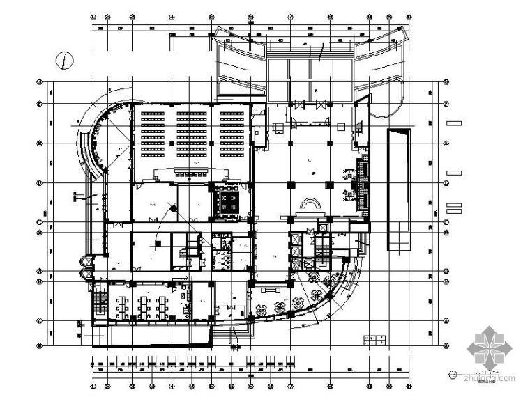 [河南]某电力综合大楼平面图