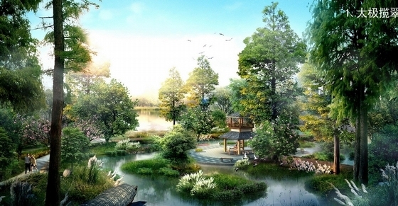 [辽宁]游憩休闲滨水北国江南生态水城景观规划设计方案-效果图