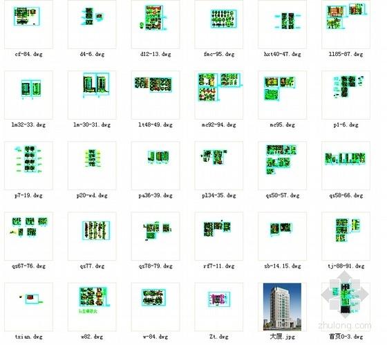 [深圳]25层现代风格办公大厦建筑设计施工图(知名设计院含效果图)-总缩略图