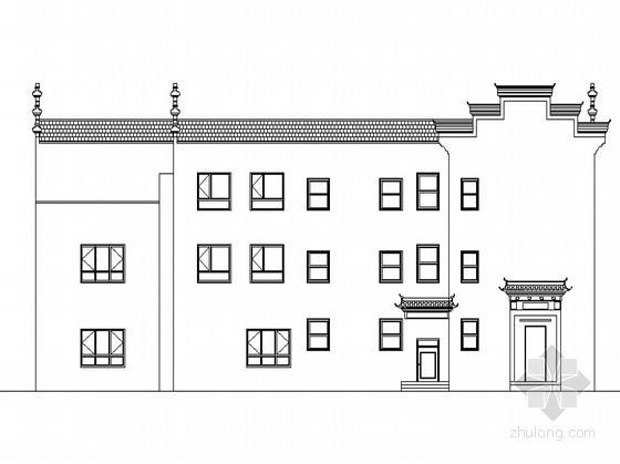 [十堰市武当山]某三层仿徽派物业办公楼建筑施工图