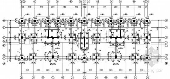 8层底框-抗震墙砌体结构商住楼结构施工图(坡屋面)