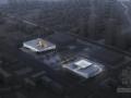 [安徽]六层徽派意蕴立方形体综合档案馆建筑设计方案文本