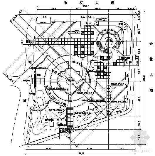 某公园休闲广场供电平面图
