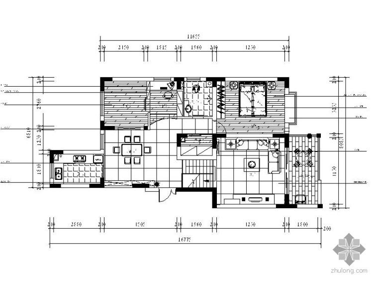 现代某复式家居装修图