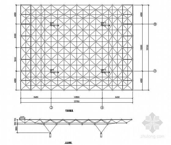 [无锡]异形网架结构收费站结构施工图(含计算书)