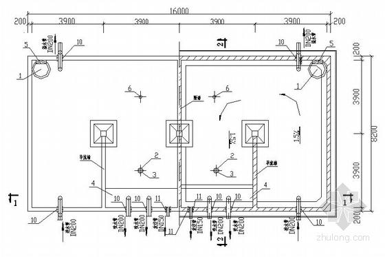某师范学院给水加压泵站设计图