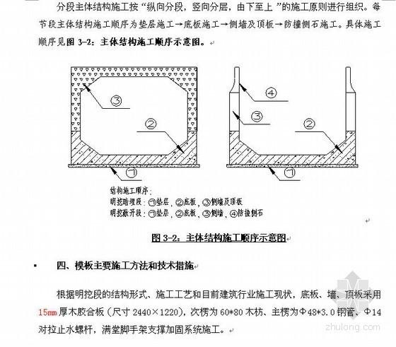 明挖隧道主体结构高支模模板施工方案(含详细计算书)