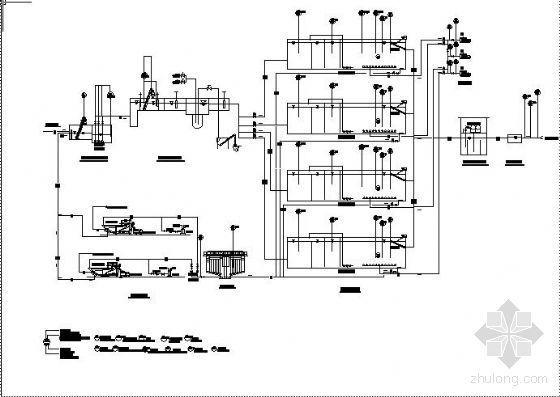 某污水处理厂工艺流程检测图