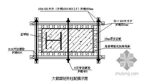 北京大型击剑馆基础结构模板施工方案(组合钢模板 大钢模 鲁班奖)