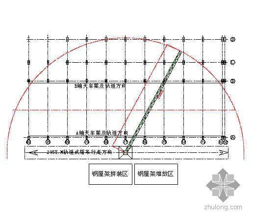 广东某电厂主厂房钢屋架吊装方案