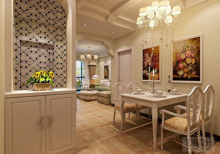 九龙城84平方两室两厅田园风格装修案例-20141228161739