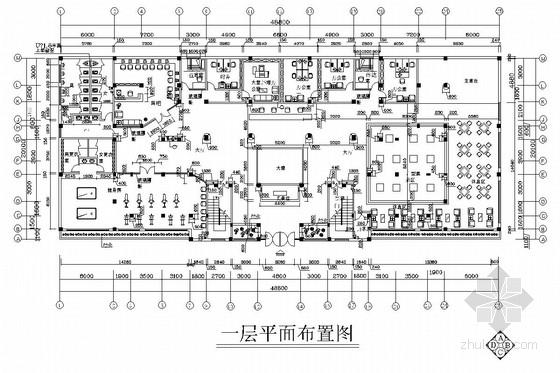 某小区两层售楼中心和某户型装修施工图