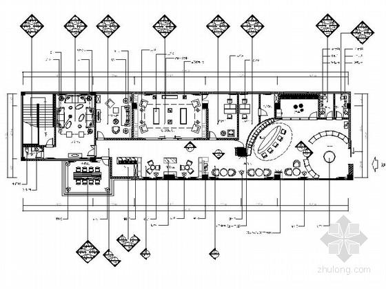[南京]某高端典雅红酒会所室内装修施工图(含效果)