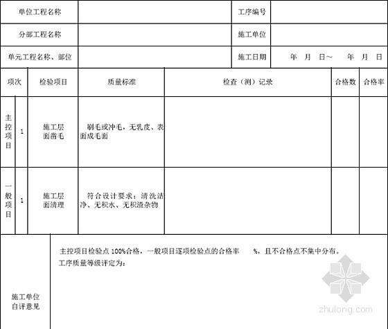 [内蒙古]水利水电单元工程质量验收评定样表288页