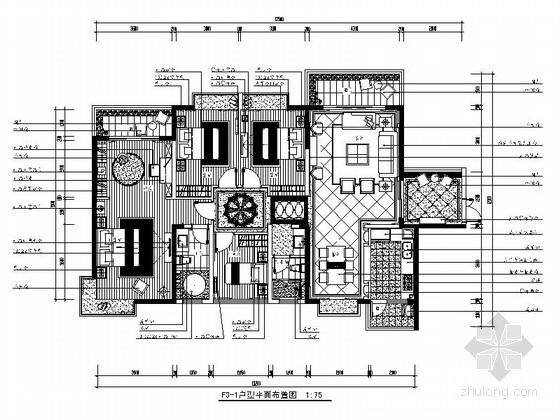 [南宁]高层住宅奢华欧式四居室装修图(含效果实景)