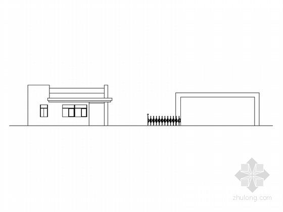[浙江]单层企业传达室及大门建筑设计施工图(32平方米 含结构、电气施工图)
