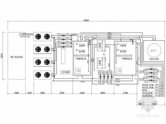 [上海]某公司生产热泵冷热水系统设计施工图