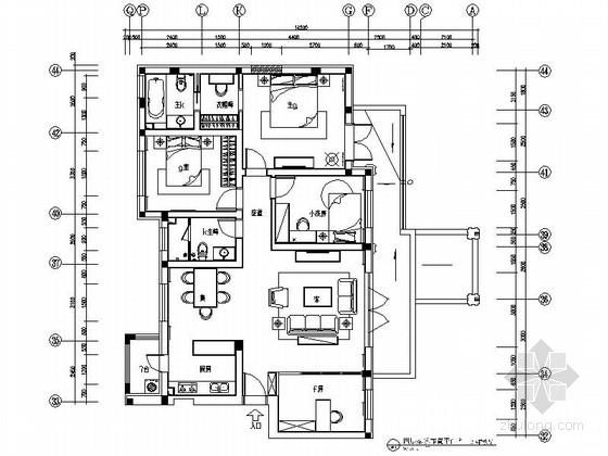 [哈尔滨]保利开发某花园洋房奢华四居样板房装修图(含效果实景)