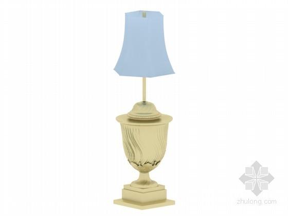 欧式时尚台灯3D模型下载