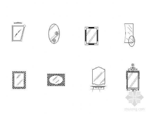 CAD镜子图块-2