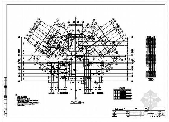 成都某剪力墙核心筒工程结构设计图