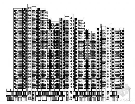 [青岛市]某花园住宅小区建筑方案图(6栋楼)