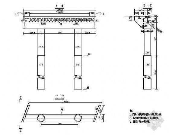 预应力混凝土斜交简支梁(板)桥成套cad设计图纸