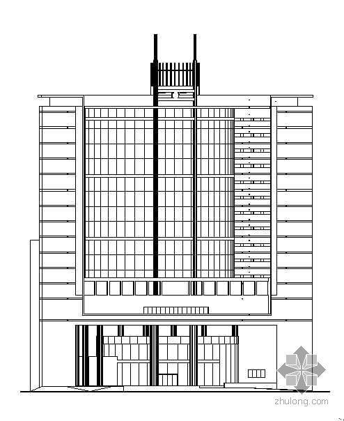 某局部十四层大型商务综合楼建筑施工图