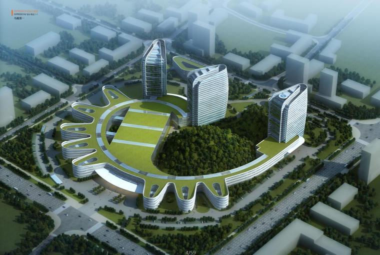 [四川]内江市第一人民医院建筑设计文本(0JPG+59页)