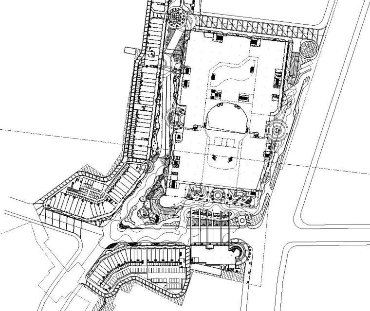 [山东]信合商城居住区全套景观施工图设计(包含CAD+200个)