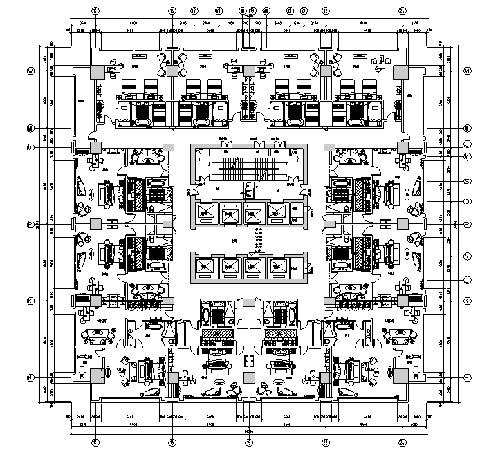 【重庆】现代奢华国际大酒店设计施工图(附效果图)_4