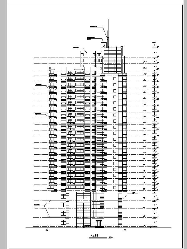 现代高层酒店综合建筑设计施工图CAD