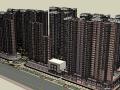 和合完整小区模型带精细景观住宅建筑模型设计(SU模型)
