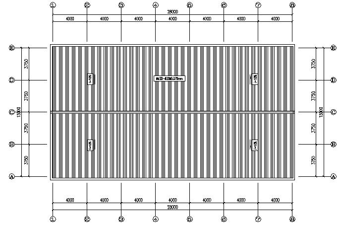 二层15x28m门式刚架钢结构施工图(CAD,9张)