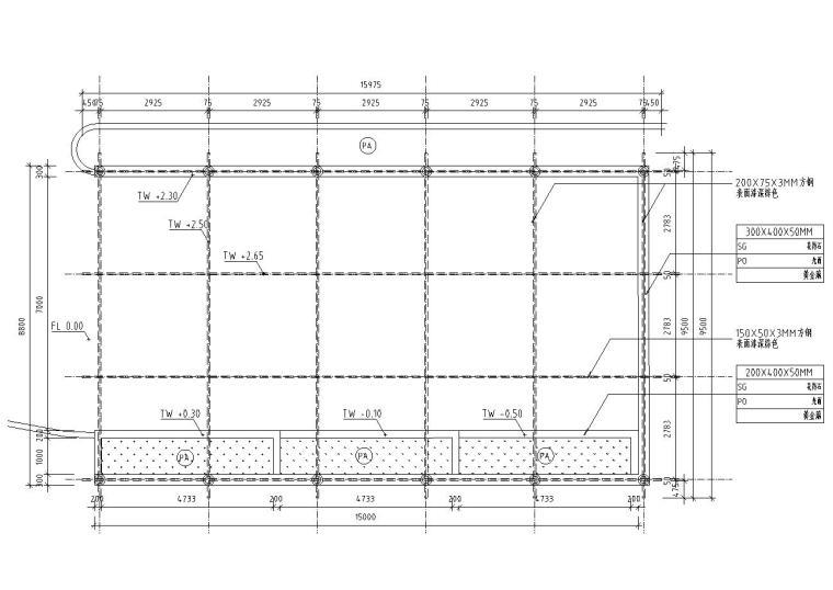 特色车库入口廊架设计详图——泛亚景观