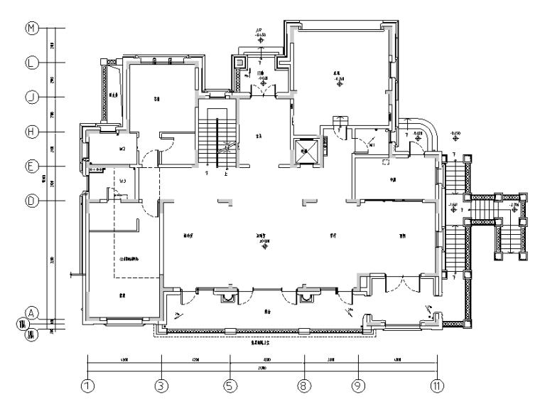[云南]湖景林菀750平米住宅设计施工图(附效果图)