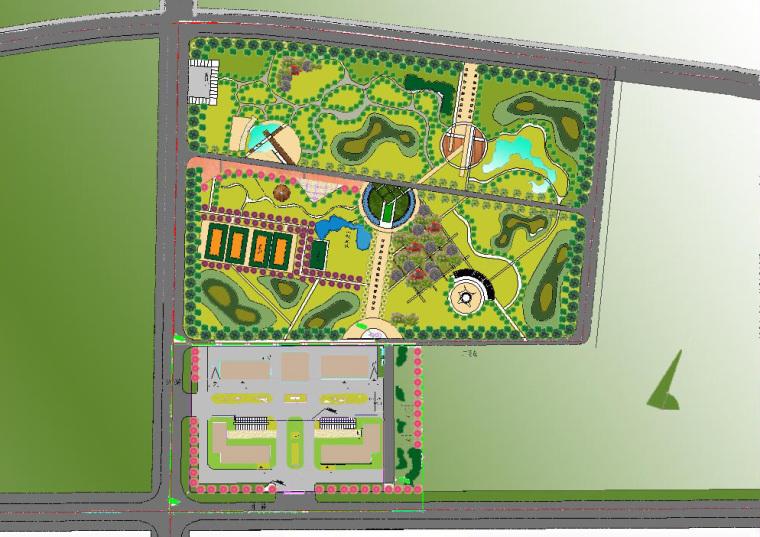 包头市金属工业园区中心公园规划设计_1