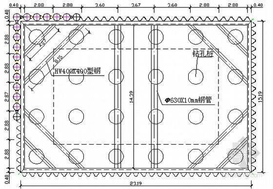 [山东]基坑锁口钢管桩结合拉森钢板桩围堰支护施工方案