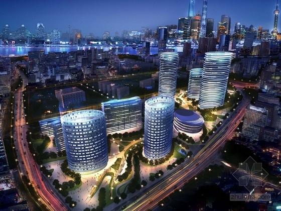 [上海]高层现代风格办公综合体设计方案文本