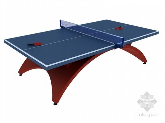 乒乓球桌3D模型下载