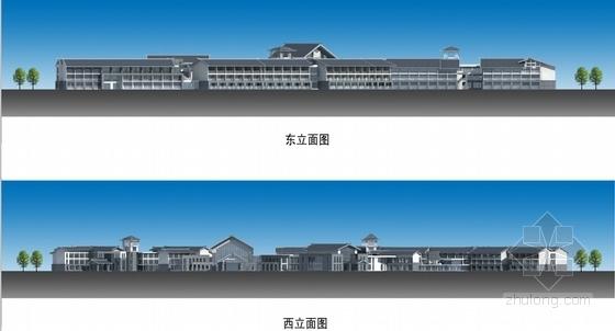 [江西]新中式风格道教养生休闲度假基地规划设计方案文本-单体建筑立面图