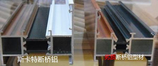 断桥铝与劣质断桥铝的区别