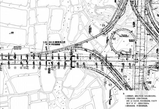 [湖北]40米宽先简支后连续后张预应力混凝土T梁桥施工图165张(互通高架桥 花瓶式桥墩)