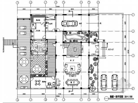 [深圳]温泉酒店式别墅施工图(含效果图)