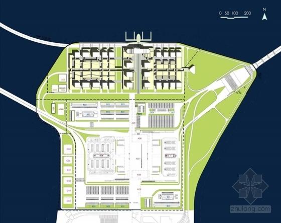 大型交通枢纽及多功能综合区规划方案平面图