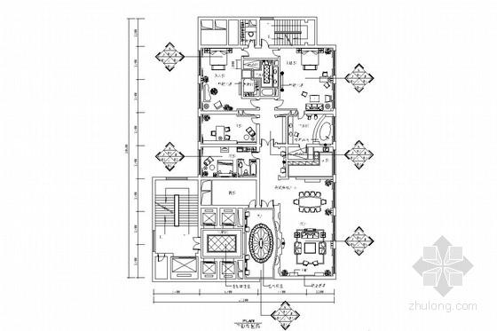 豪华欧式风格总统套房室内施工图