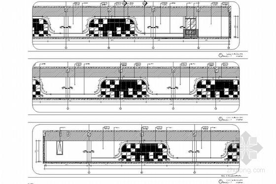 [江苏]1省级重点实验中学艺术中心室内施工图 走道立面图