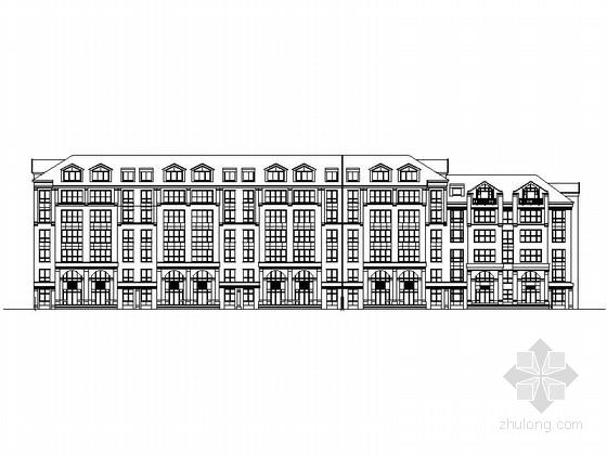 [长春]某简欧风格小区住宅楼建筑扩初图