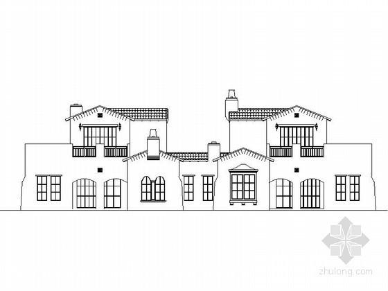[重庆]某二层双拼别墅建筑施工图(含建筑节能模型)